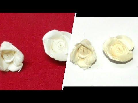 How to Make Mini Sola Wood Rose Flower | Sola Wood Craft | UMA