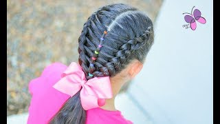 Ladder with Elastics | Hairstyles for Girls | Hairstyles for School | CikasChicEng