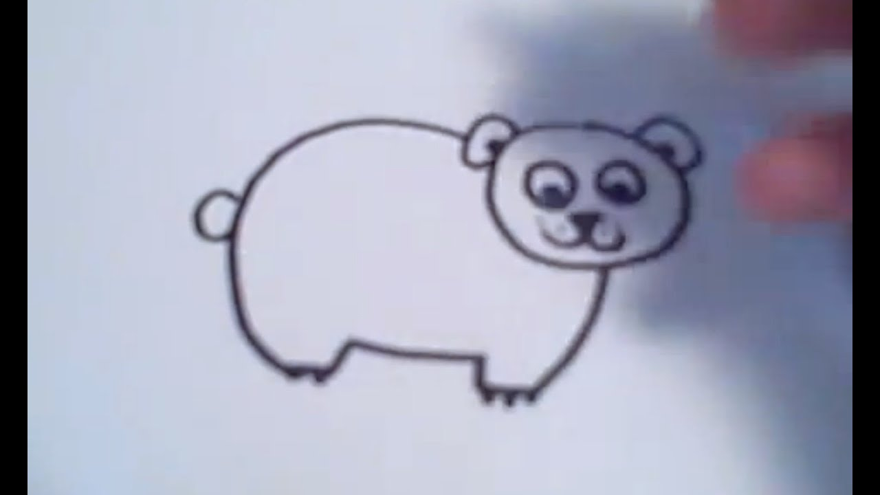 How To Draw A Cartoon Polar Bear Youtube