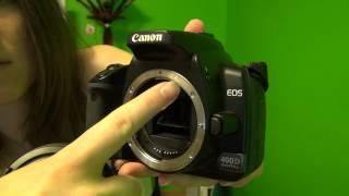 Как заменить установить сменный объектив на фотоаппарат