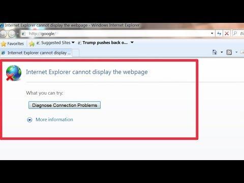 Pc Problem | Fix Diagnose Connection Problem In Windows Internet Explorer