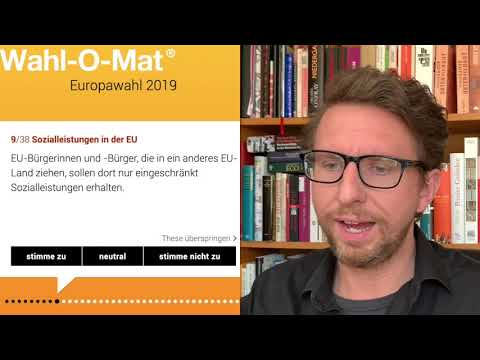 Baldur von Kaiser macht den Wahl-O-Mat zur Europawahl 2019