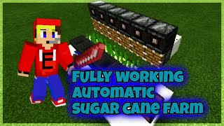 How To Make a Fully Working Automatic Sugar Cane Farm in MCPE 0.15
