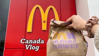 캐나다 브이로그 |  BTS 맥도날드 세트 캐나다 자궁…
