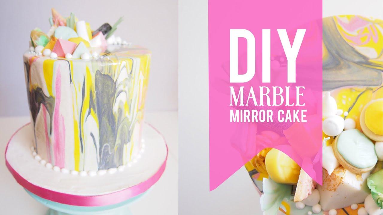 Diy Marble Mirror Glaze Cake Most Satisfying Mirror Cake