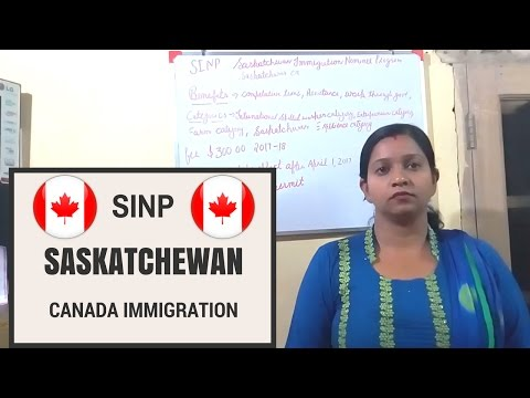 SINP - Saskatchewan Immigrant Nominee Program for CANADA IMMIGRATION [ Hindi ]
