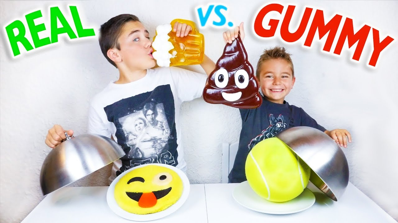 Real Vs Gummy Food Challenge Trucs Réels Ou Bonbons