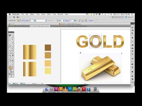 Adobe Illustrator Gradient GOLD Text And Logo | Illustrator Tutorial