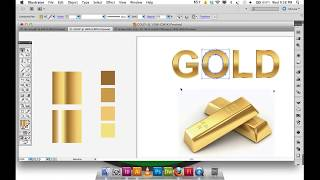 Adobe Illustrator Gradient GOLD text and logo | Illustrator Tutorial