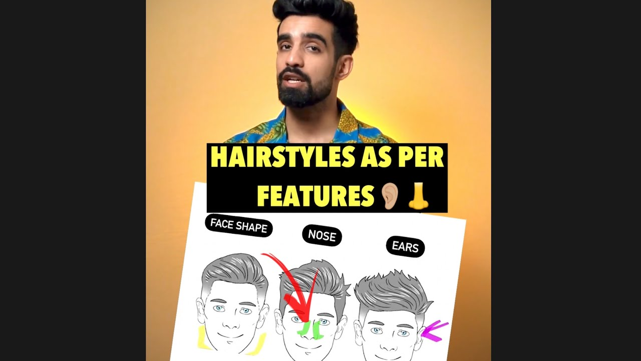 Hairstyles as per FEATURES👃👂🏼 #Shorts #Hairstyles