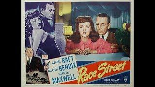 Фильм-нуар  Уличная гонка (1948)  George Raft William Bendix Marilyn Maxwel