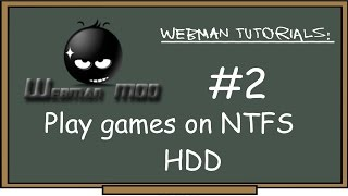 PS3 - webMAN Tutorial #2 Play games on external NTFS HDD! how to Convert, add & play