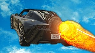 NEW FASTEST CAR WITH A ROCKET! (GTA 5 Funny Moments)