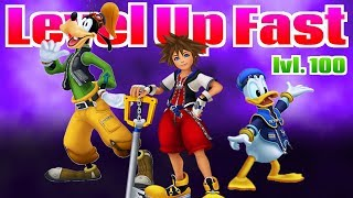 How to level up fast in Kingdom Hearts Hd 1.5 Remix