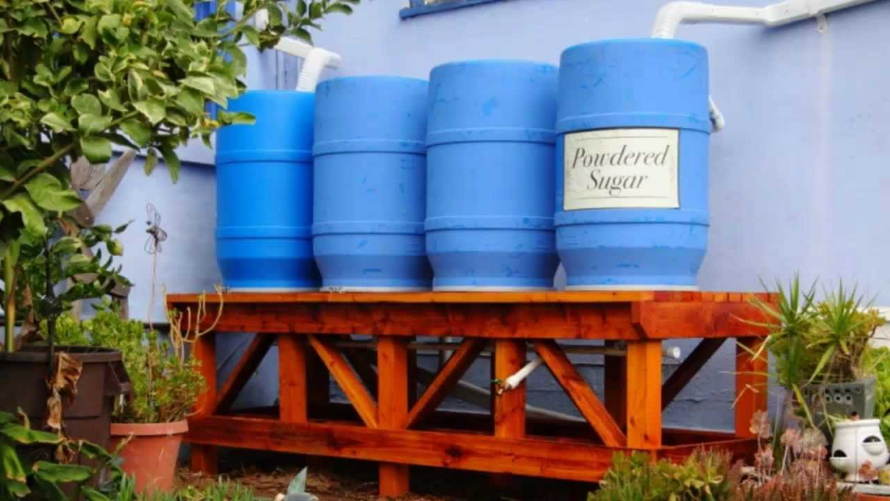 220 gallon rainwater collection system at the sugar shack for How to build a rainwater collection system