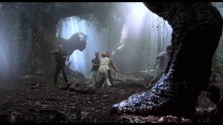 Jurassic Park 3 (2001) - T-rex vs Spinosaurus (Our rex is bigger than yours)
