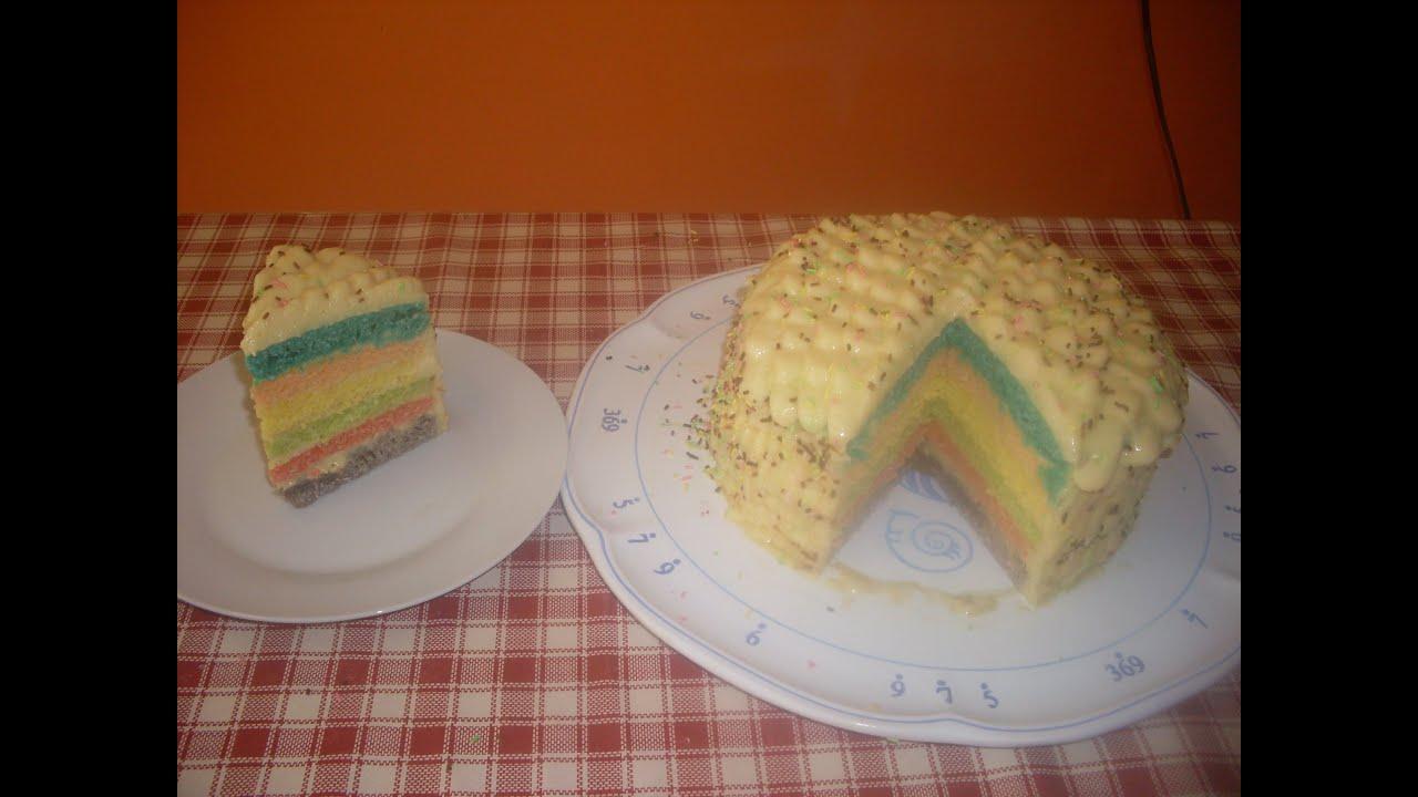 comment faire un rainbow cake recette g teau americain youtube. Black Bedroom Furniture Sets. Home Design Ideas