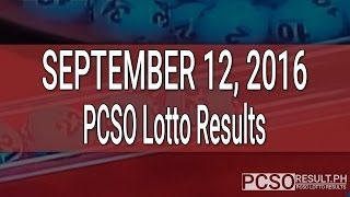 PCSO Lotto Results September 12, 2016 (6/55, 6/45, 4D, Swertres & EZ2)