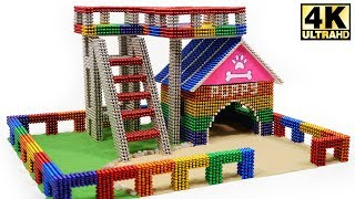 DIY - How To Build Amazing Puppy Dog House from Magnetic Balls (Magnet ASMR) | Magnetic Man 4K