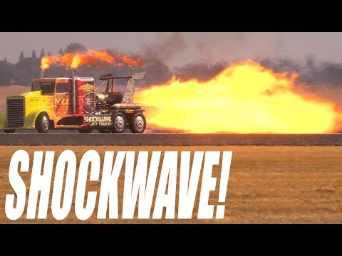 Shockwave jet-powered truck at the California Capital Airshow