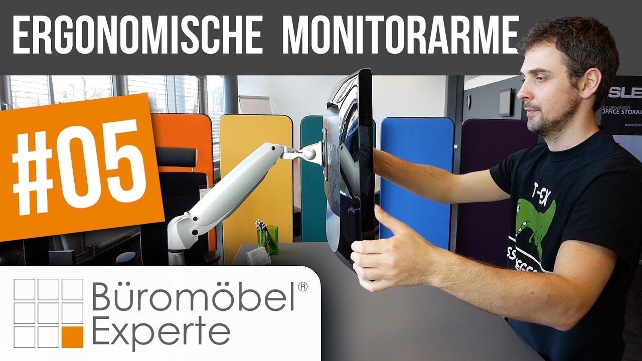 Ergonomische Monitorarme   Vorstellung   Büromöbel-Experte #05 - YouTube