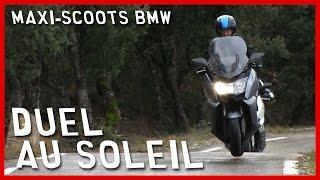 Duel au soleil pour les maxi-scoots BMW (English Subtitles)