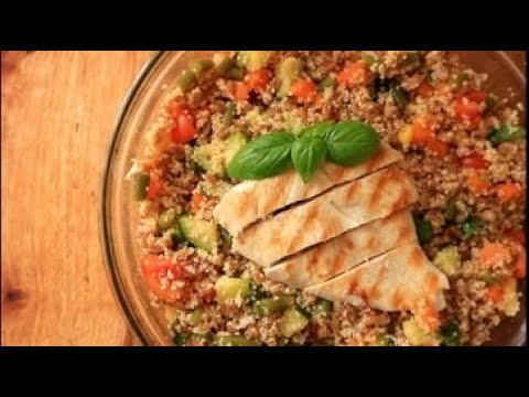 Healthy Farro and Cous Cous Salad