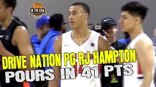 #1 PG 2020 RJ Hampton Poors in 41 PTS | Phenom U - Jalen Johnson vs Drive Nation - RJ Hampton