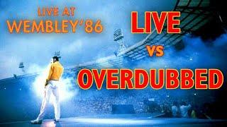 Queen Live at Wembley 7/12/1986 - RAW VS OVERDUBBED