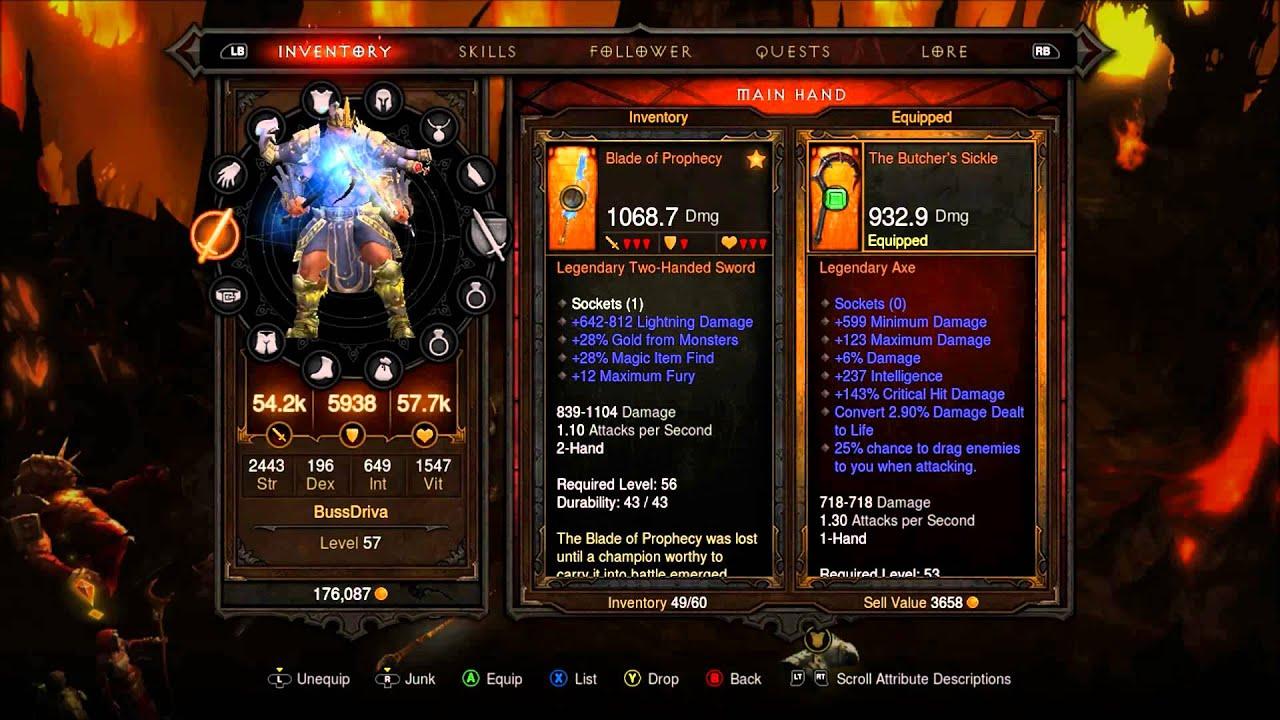 Diablo 3 item list legendary