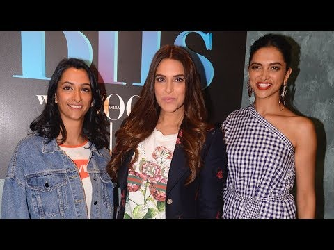 Deepika Padukone With Her Sister Anisha Padukone & Neha Dhupia On The Sets Of Vogue BFFs