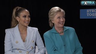 'Extra' Exclusive with Hillary Clinton & Jennifer Lopez, Plus: Hillary on Michelle Obama