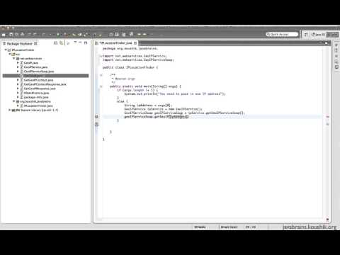 SOAP Web Services 04 - Writing a Web service Client: Calling the Service