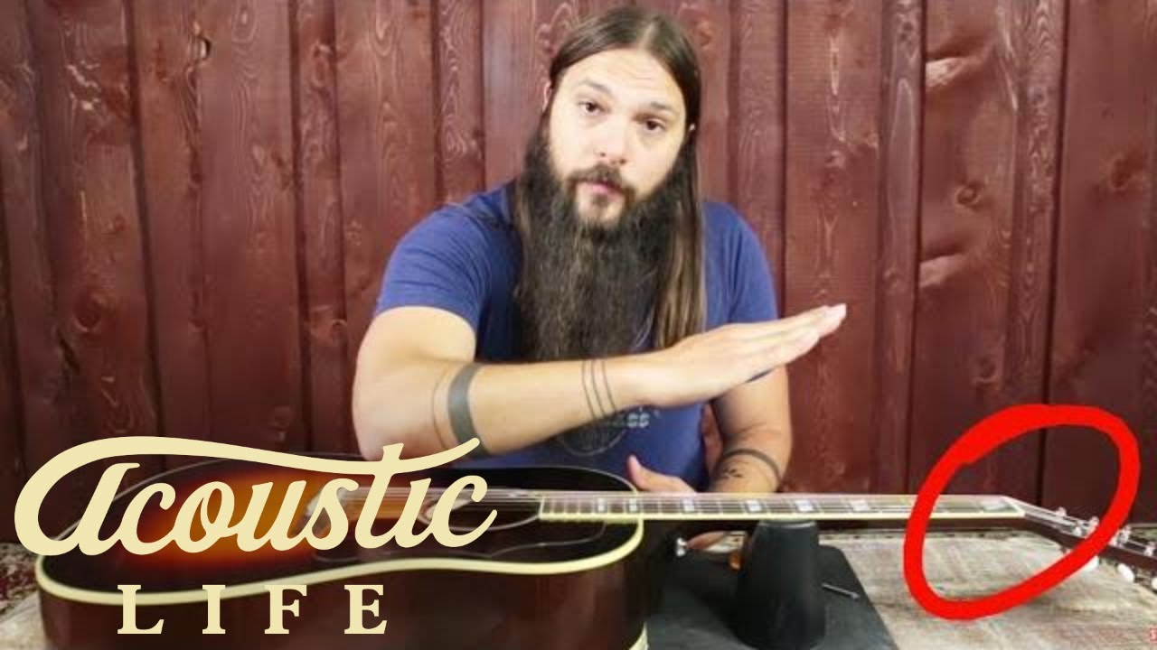 how to adjust the truss rod on your acoustic guitar [ 1280 x 720 Pixel ]