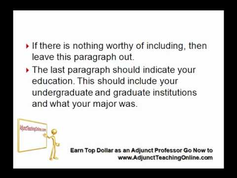Sample Letter Of Interest As An Adjunct Professor YouTube