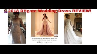 2018 DHgate.com wedding dress review👉🏽 $270.00 wedding dress|Budget Bride wedding series
