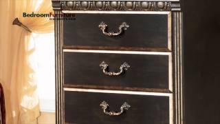 Ashley Coal Creek 4-piece Mansion Bedroom Set In Dark Brown