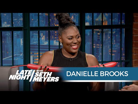 Danielle Brooks Makes Balloon Animals
