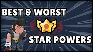 Best and Worst Star Powers   Brawl Stars