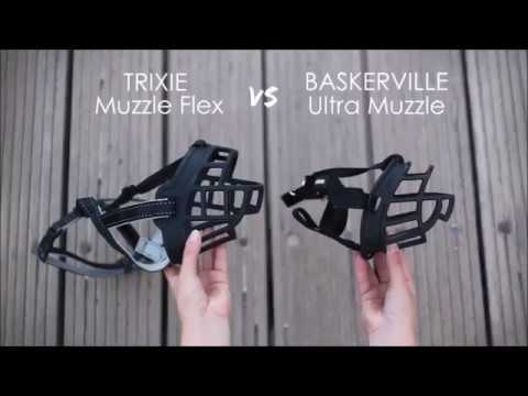 Trixie Muzzle Flex VS Baskerville Ultra Muzzle