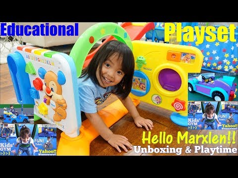 Kids' TOY CHANNEL: An Indoor Gym Playground Playtime! Fisher-Price Activity Center. Educational Toys