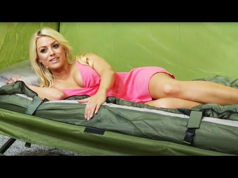 Semptec 4in1-Zelt inkl. Schlafsack, Matratze & Campingliege