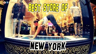 Sexy Girl Doing YOGA in a New York City Store! I