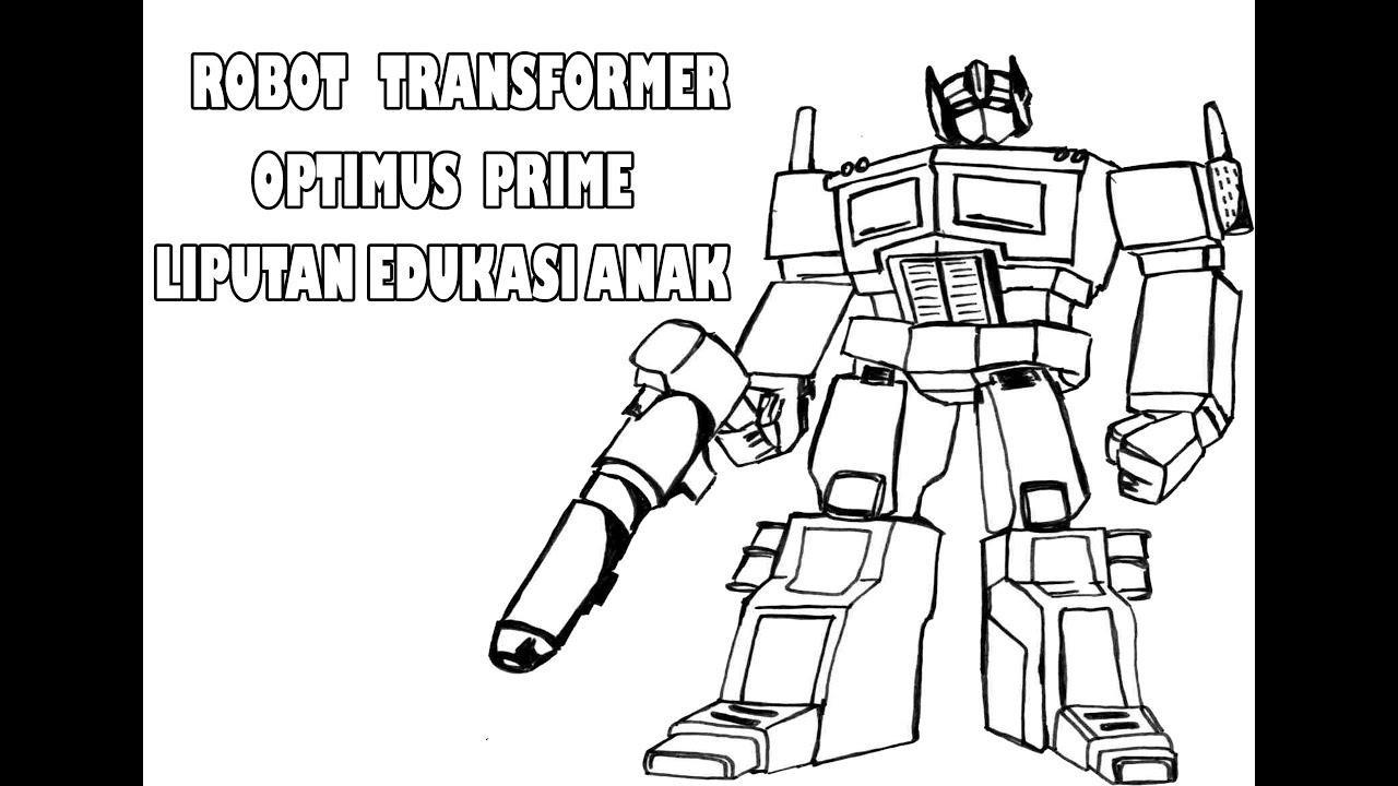 Mewarnai Mainan Robot Transformer Permainan Robot