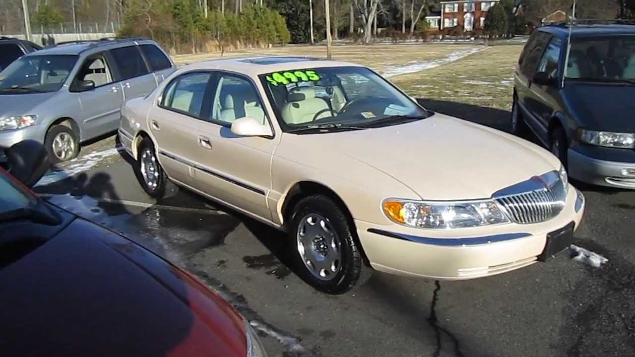 small resolution of 1998 lincoln continental walkaround