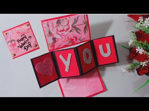 Valentine cards handmade easy/Valentines day card/greeting cards latest design handmade/Valentine ca