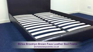 Birlea Brooklyn Brown Faux Leather Bed Frame