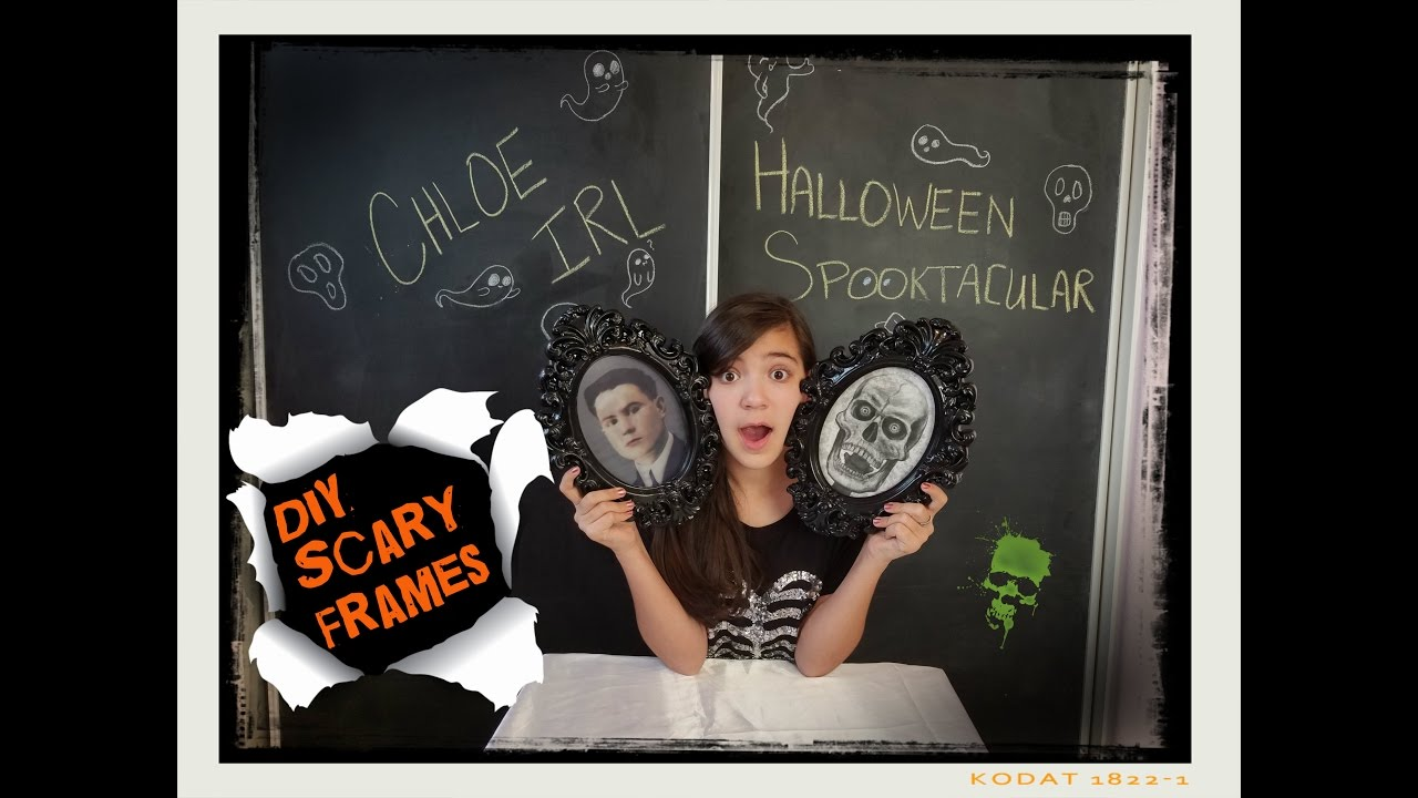 diy halloween decorations- creepy frames chloe irl halloween