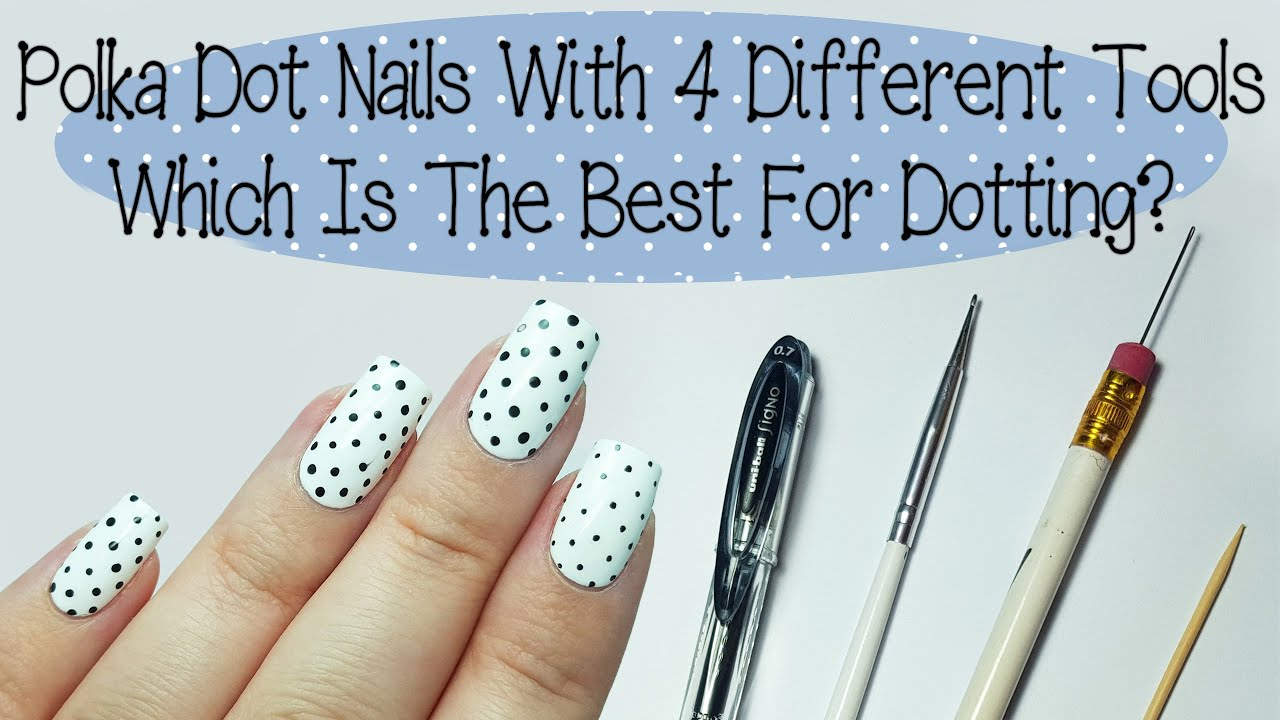 Easy Polka Dot Nails For Beginners (And What Tool Works Best) - YouTube