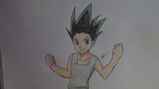speed drawing dibujo de gon freecss HUNTER X HUNTER